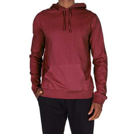 Super Soft Pullover Hoodie // Maroon (S)