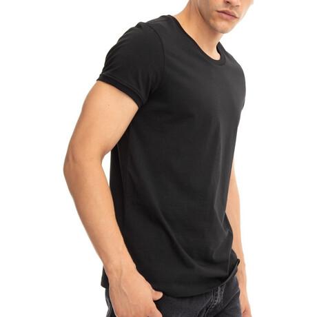 Tyler Slim-Fit Crewneck Short Sleeve Tee // Black (Small)