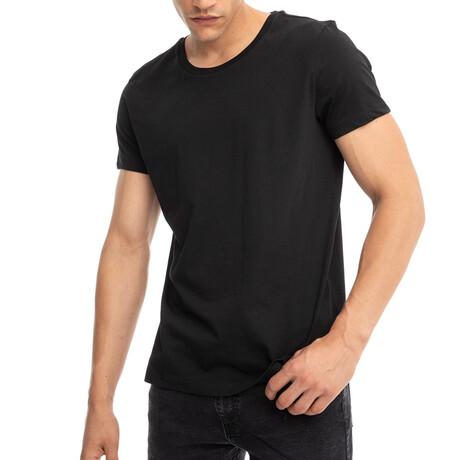 Ray Regular Fit Crewneck Short Sleeve Tee // Black (Small)