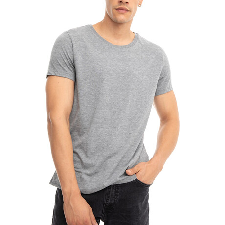 Jackson Regular Fit Crewneck Short Sleeve Tee // Gray (Small)