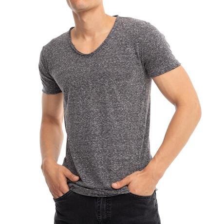 Brandon Slim-Fit V-Neck Short Sleeve Tee // Anthracite (Small)