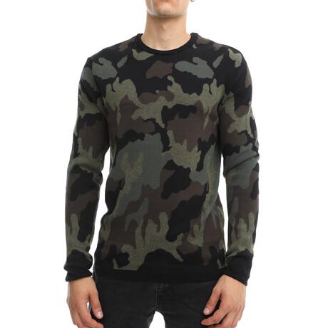 Cameron Knit Crewneck Pullover Sweater // Camo (Small)