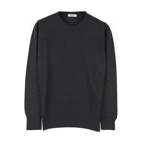 Sean Slim-Fit Knit Crewneck Pullover Sweater // Anthracite (Small)