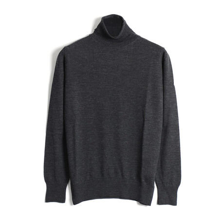 Sawyer Knit Turtleneck Sweater // Anthracite (Small)