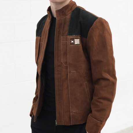 Han Solo Star Wars Suede Leather Jacket // Brown (XS)