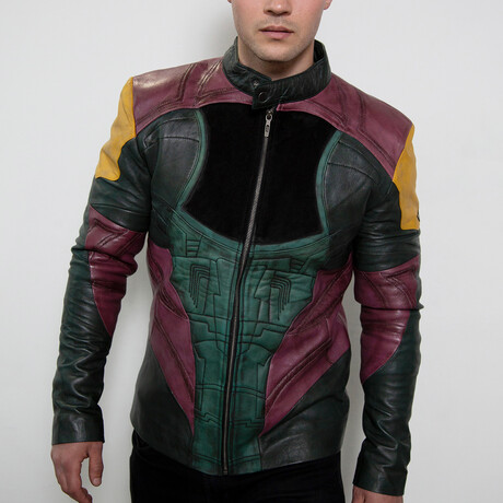 Boba Fett Mandalorian Leather Jacket // Green + Burgundy (XS)