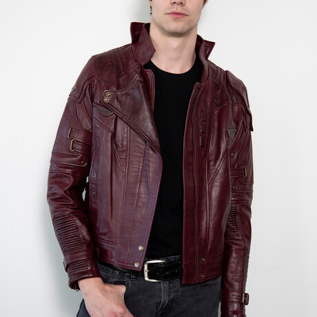 Guardians of the Galaxy Star Lord Leather Jacket // Maroon (XS)