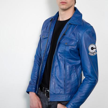 Dragon Ball Z Trunks Leather Jacket // Blue (XS)