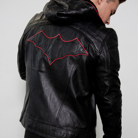 Red Hood Limited Edition Leather Jacket // Black + Red (XS)