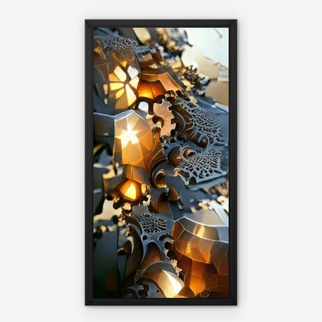 """Gold Matrix // Framed Canvas (22""""H x 12""""W x 2""""D)"""