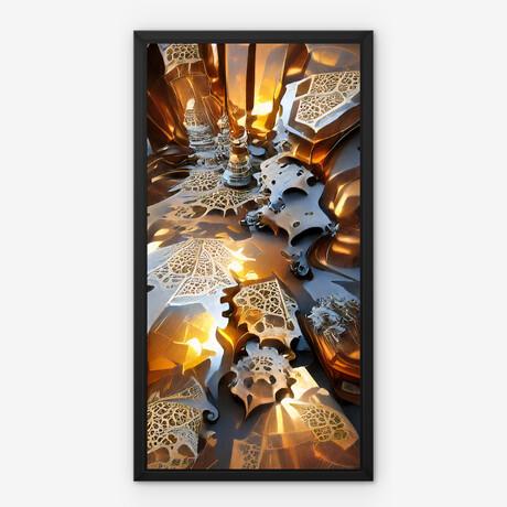 "Interlaced Metal // Framed Canvas (22""H x 12""W x 2""D)"