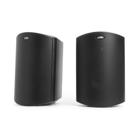 Atrium6 All Weather Outdoor Speakers // Pair of 2 (Black)