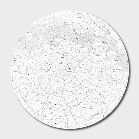 "Galaxy Map // Round // Light (16""Ø)"