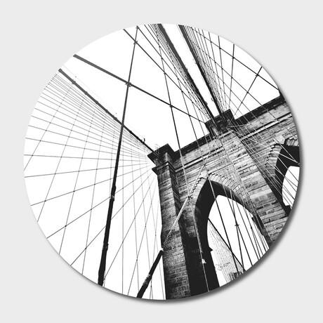 "NYC //  Brooklyn //  Bridge // 04 // Round (16""Ø)"
