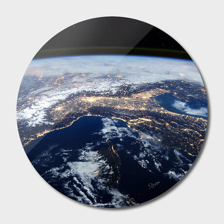 """Planet Earth // Round (16""""Ø)"""