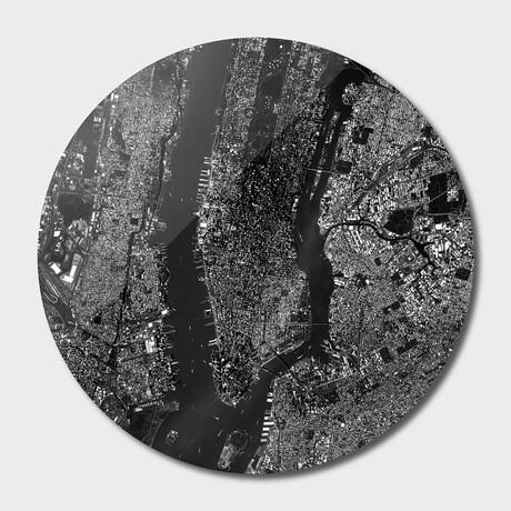 "NYC Map // Round (16""Ø)"
