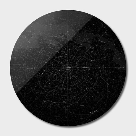 """Galaxy Map // Round // Dark (16""""Ø)"""
