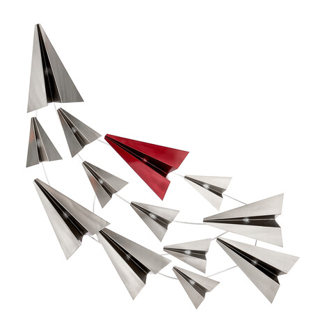 Paper Planes // Gray + Red