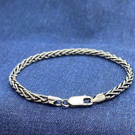 """Sterling Silver Wheat Link Chain Bracelet // 8"""" // 3.5mm"""