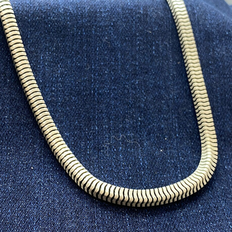 """Sterling Silver Square Snake Chain Necklace // 20"""" // 4.5mm"""