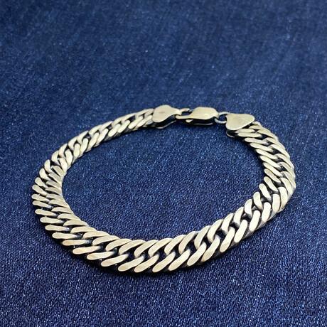 """Sterling Silver Cuban Link Chain Bracelet // 8"""" // 9mm"""
