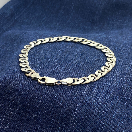 "Sterling Silver Gucci Link Chain Bracelet // 8.5"" // 6.5mm"