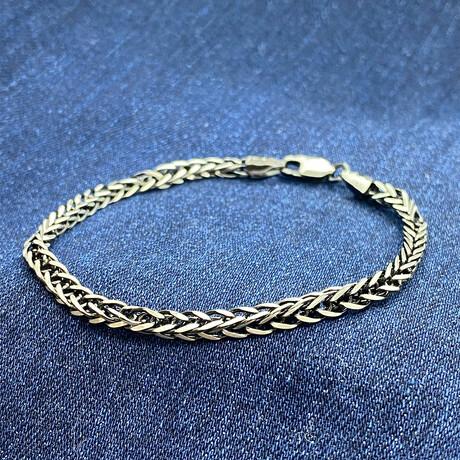 "Sterling Silver Foxtail Link Chain Bracelet // 8"" // 2.5mm"