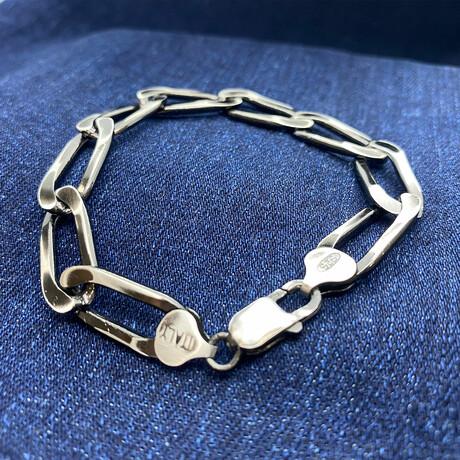 """Sterling Silver Mega Paperclip Link Chain Bracelet // 8"""" // 9.5mm"""