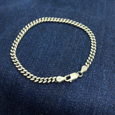 """Sterling Silver Cuban Link Chain Bracelet // 4mm (7.5"""")"""