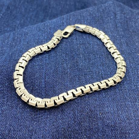 """Sterling Silver Elevated Design Link Chain Bracelet // 8.5"""" // 5mm"""