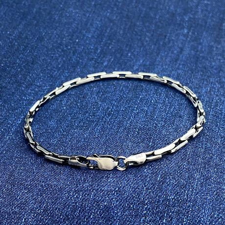"""Sterling Silver Boston Link Chain Bracelet // 8"""" // 2.5mm"""