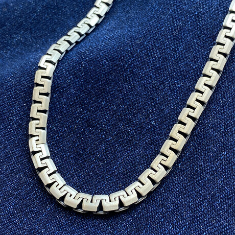 """Sterling Silver Elevated Design Link Chain Necklace // 20"""" // 5mm"""