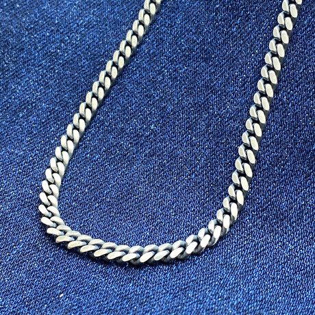 """Sterling Silver Cuban Link Chain Necklace // 20"""" // 4mm"""