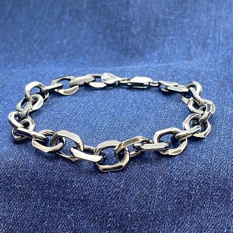 """Sterling Silver Mega Cable Link Chain Bracelet // 8"""" // 9.5mm"""
