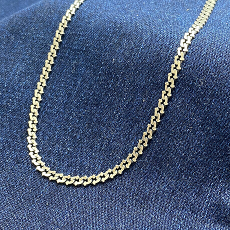 """Sterling Silver Flat-Edge Curb Link Chain Necklace // 20"""" // 3.5mm"""