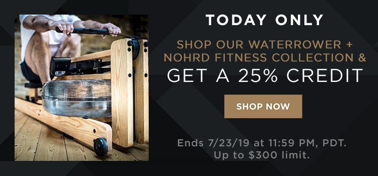 WaterRower Promo 25% Credit (web banners)