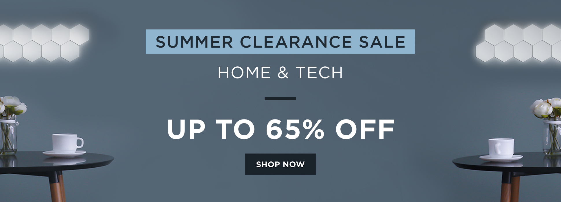 Summer Clearance - Home + Tech (Web Banner)