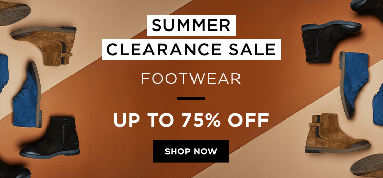 Summer Clearance - Shoes (Web Banner)