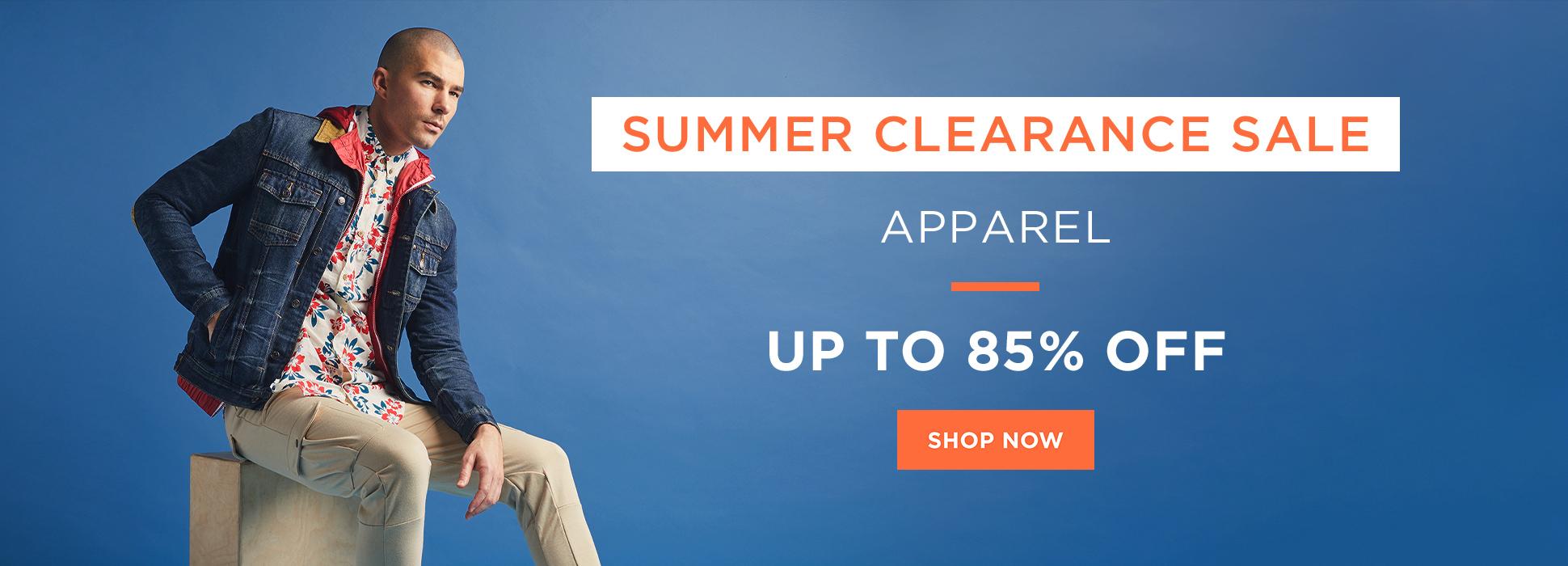 Summer Clearance - Apparel (Web Banner)