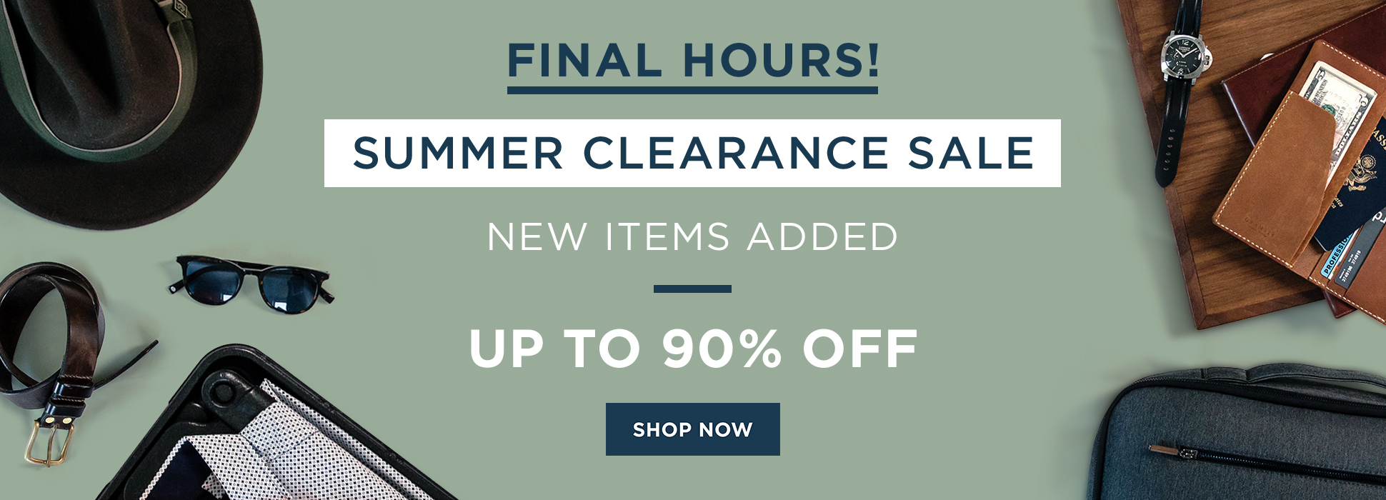 Summer Clearance - Everything (Web Banner)