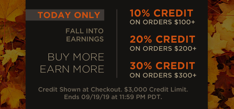 Sitewide Tiered Credit (Promo + Banners)