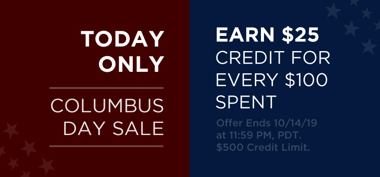 CDay Sitewide $25 credit for $100 (Promo + Banner)