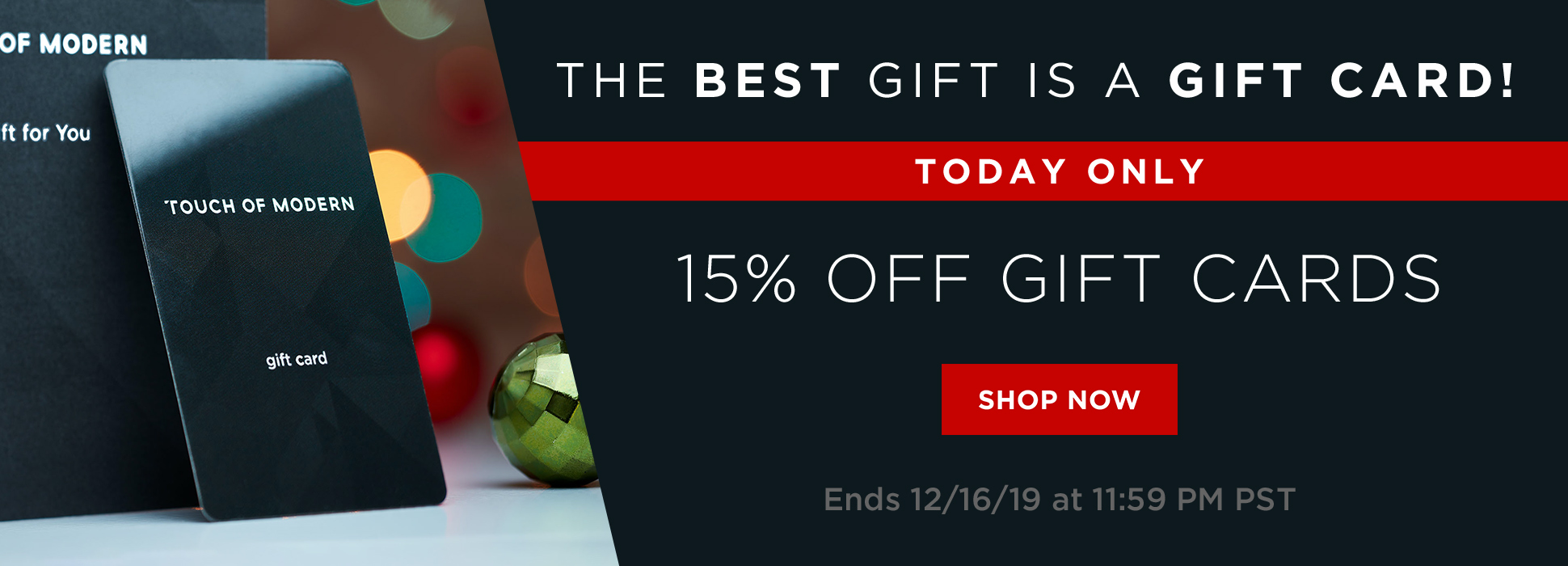 Gift Card 15% Off (Web Banner)