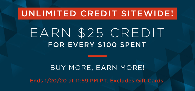 MLK Sitewide $25 for Every $100 (Promo & Banner)