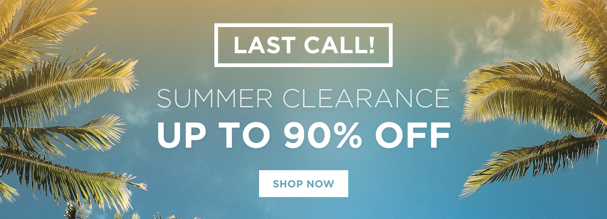 Summer Clearance Last Call (Banners)