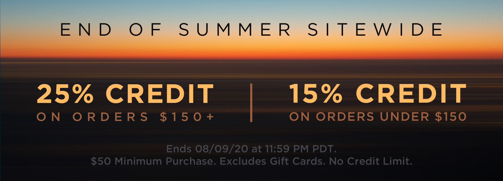 End of Summer Sitewide (Banners)