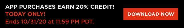 Halloween 20% Credit App Only (Web Banners)