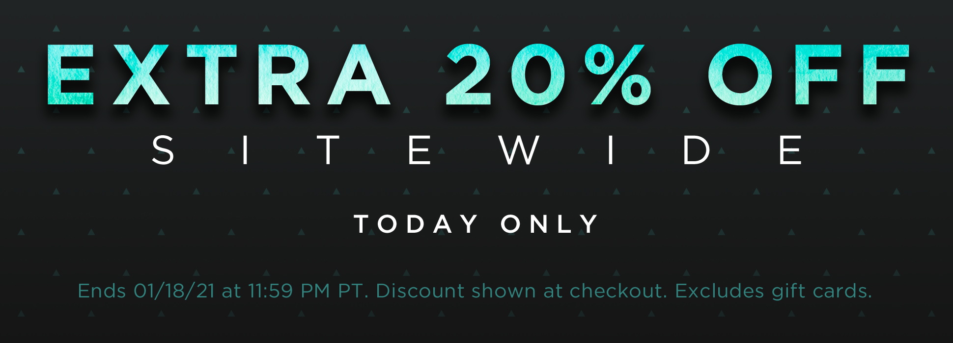MLK sitewide 20% off (banners)