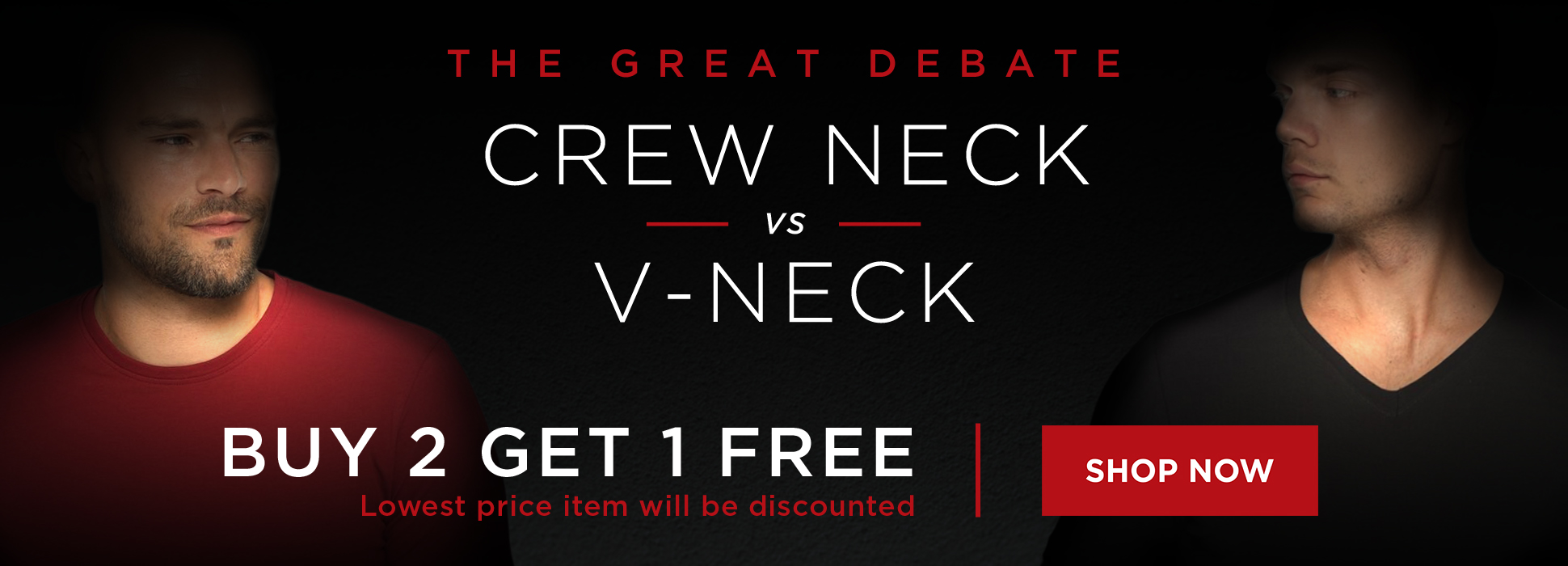 V-Neck vs Crew (banners)