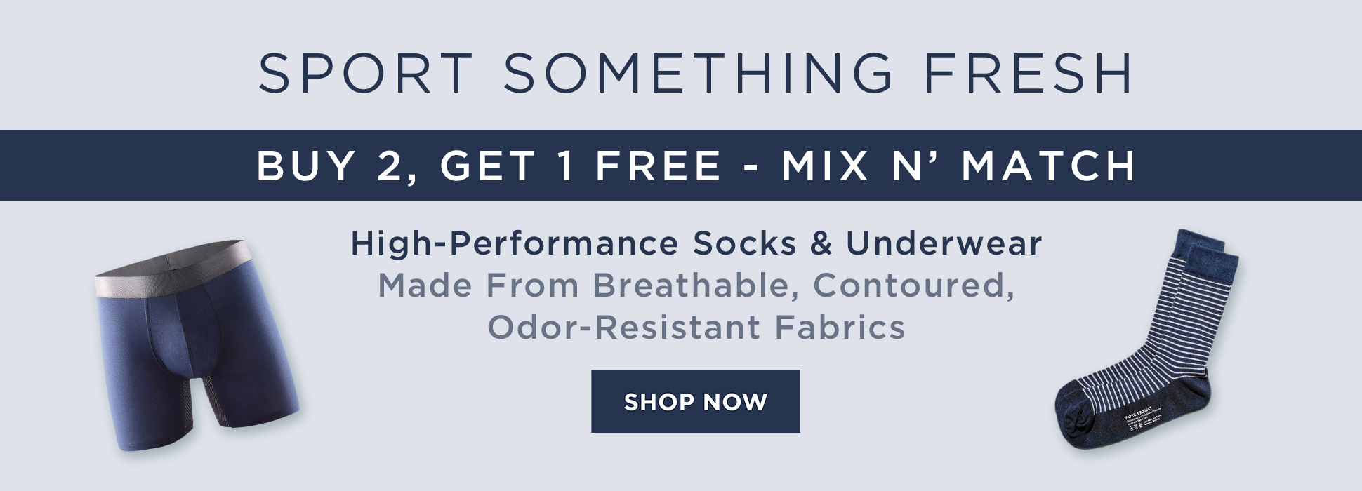 Sock and Underwear B2G1 Free (banners)